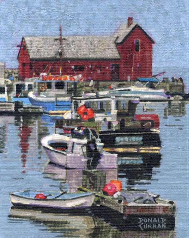 """Rockport Harbor, Massachusetts"" original fine art by Donald Curran"