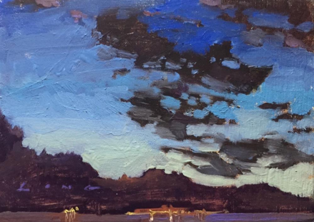 """""""Young's Bay, OR"""" original fine art by Chris Long"""
