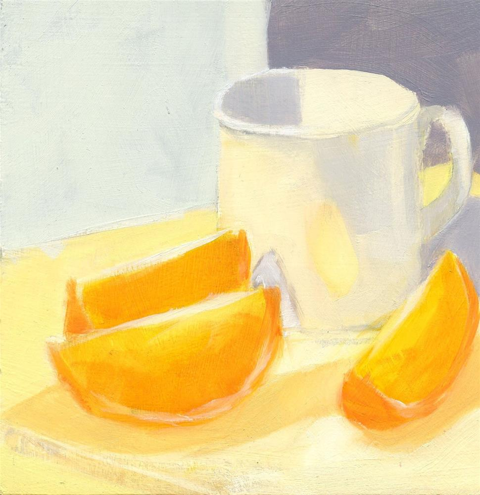 """""""Three Slices and a Cup"""" original fine art by Mitch Egeberg"""