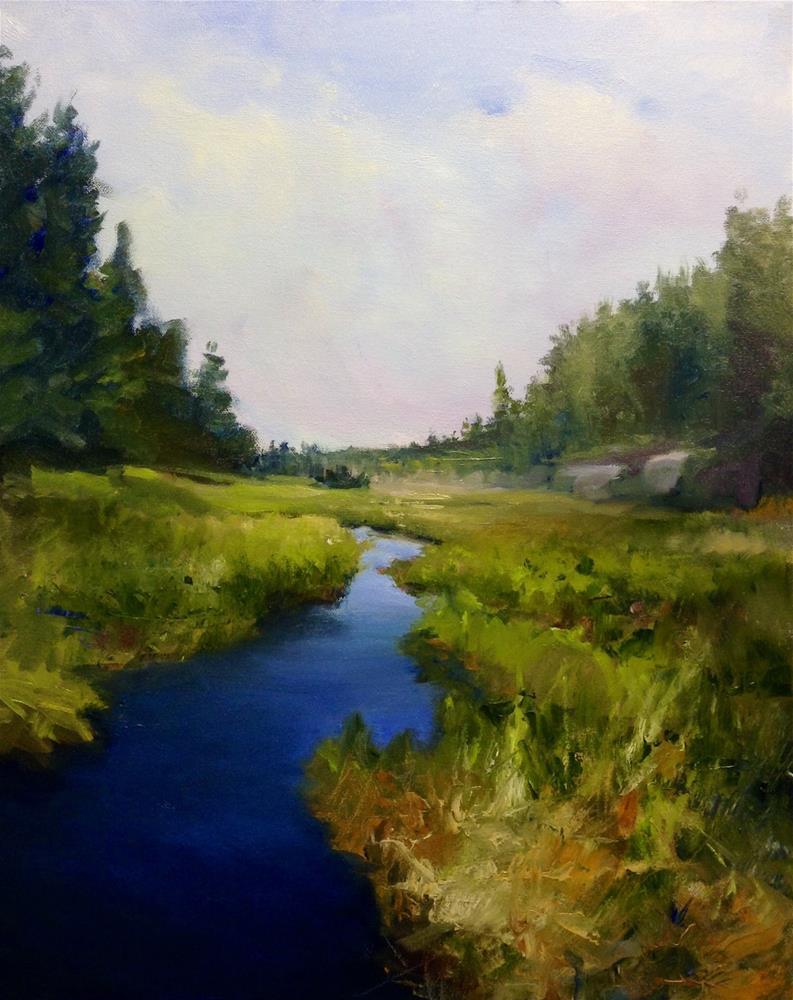 """""""Wonderful Wetland"""" original fine art by Cathy Boyd"""