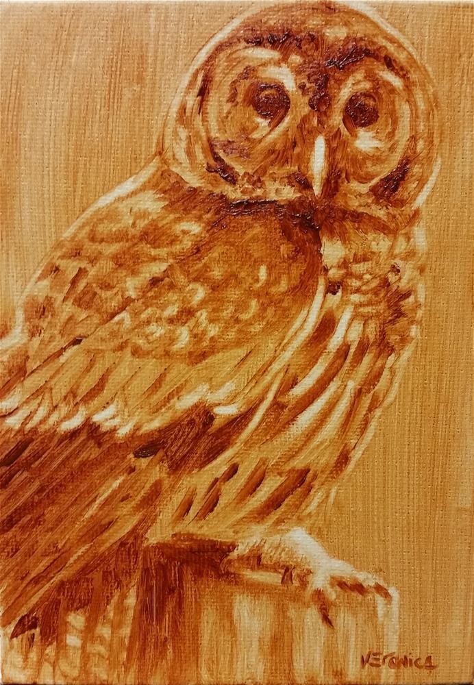 """Wisdom"" original fine art by Veronica Brown"