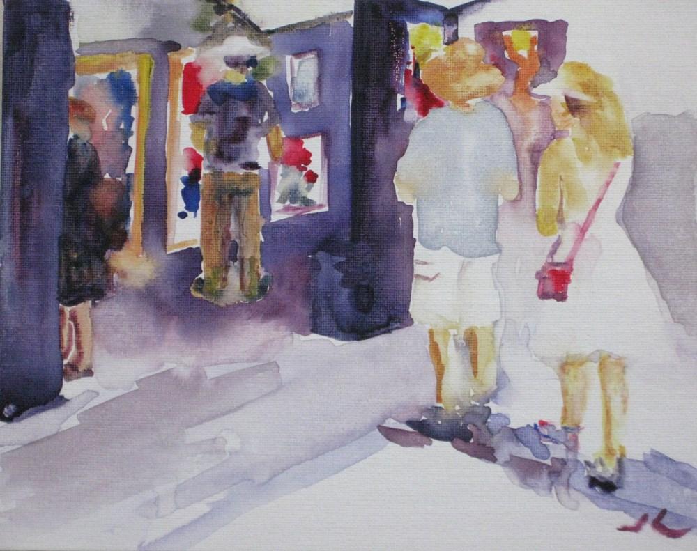 """""""At The Art Festival"""" original fine art by Julia Lu"""