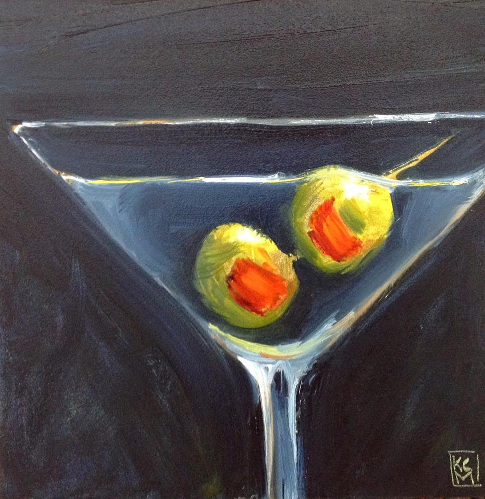 """""""Big Time Olives, 6x6 Inch Oil Painting by Kelley MacDonald"""" original fine art by Kelley MacDonald"""