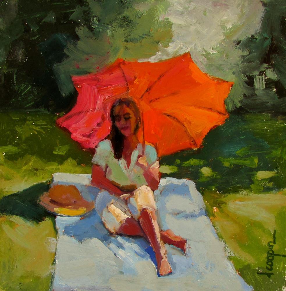 """Bathed in Orange"" original fine art by Dana Cooper"