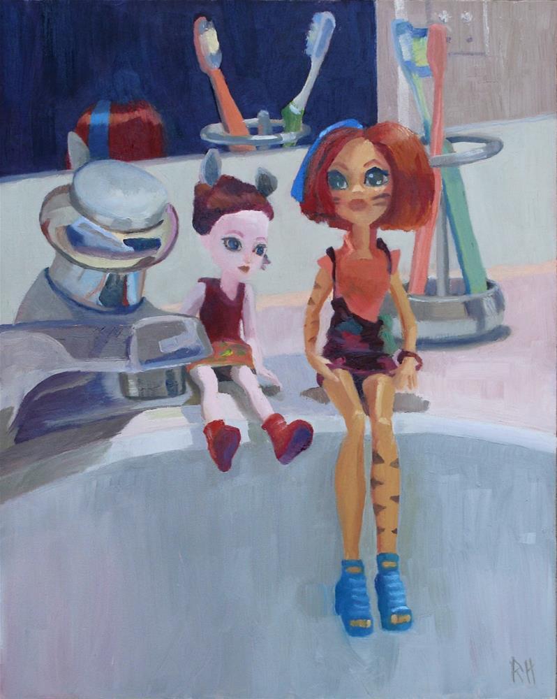 """Morning Audience"" original fine art by Rebecca Helton"