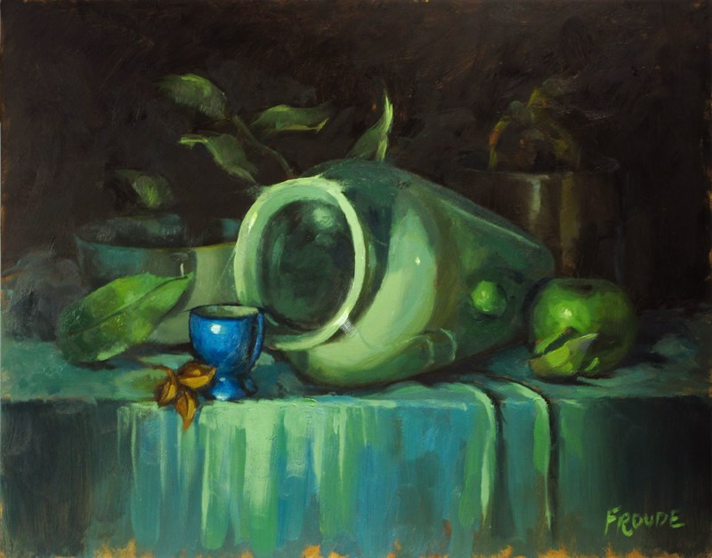 """""""Blue egg cup"""" original fine art by Dave Froude"""