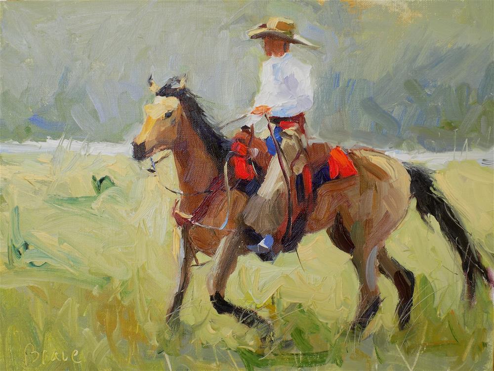 """Ride'm Cowboy"" original fine art by Rita Brace"