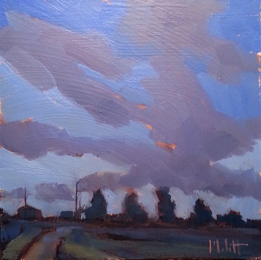 """July 2016 Twilight Color Study Contemporary Impressionism"" original fine art by Heidi Malott"