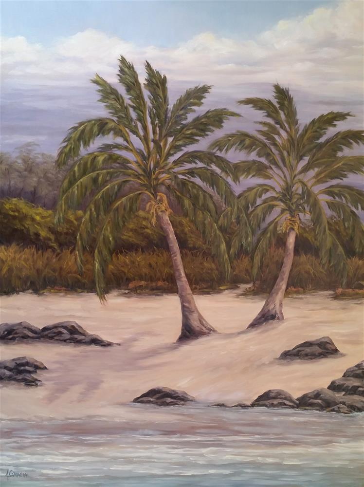"""""""Twin Palms"""" original fine art by Jeannie Garcia"""