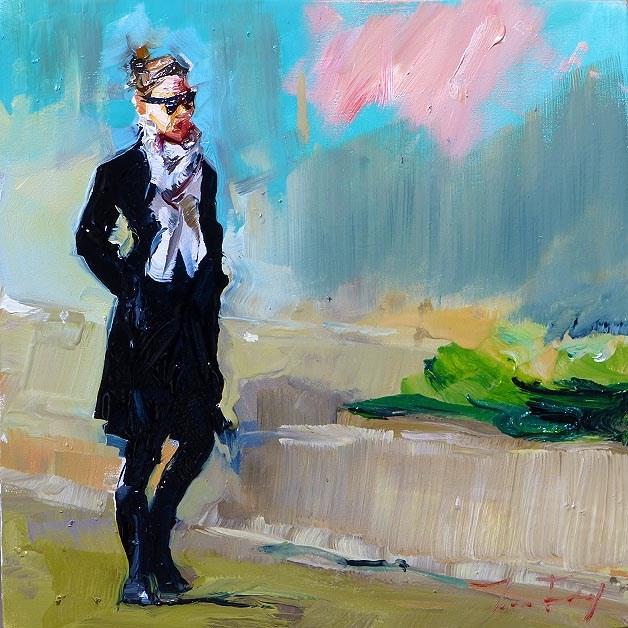 """""""strolling"""" original fine art by Jurij Frey"""