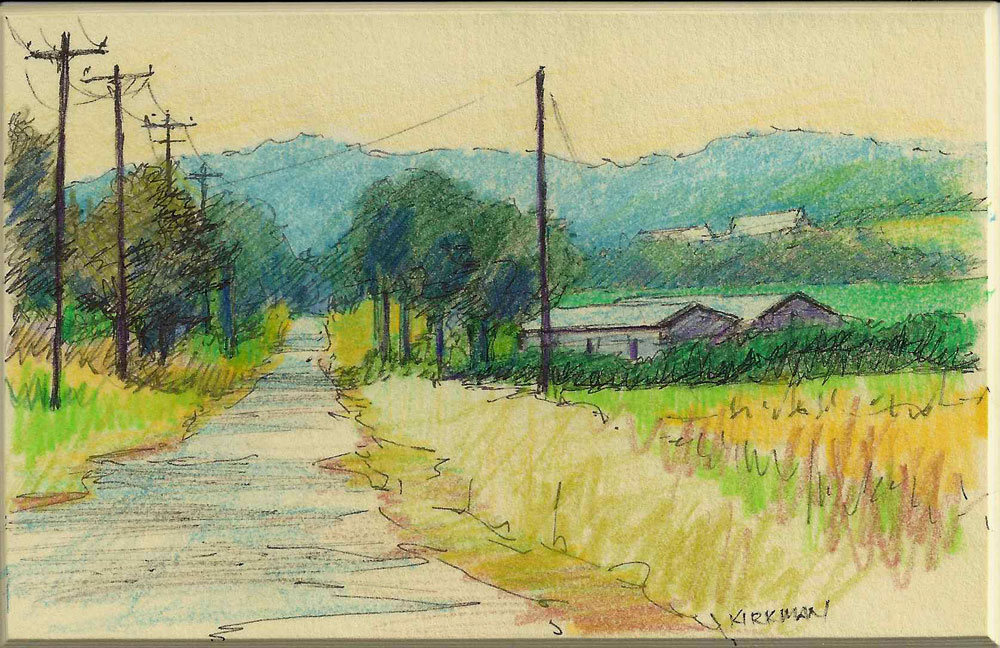 """Road Sketch 2"" original fine art by Rita Kirkman"