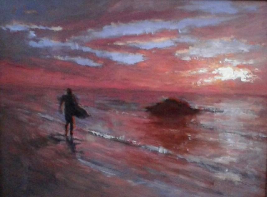 """""""evening calm"""" original fine art by tom dawson"""