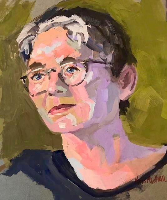 """enlightened"" original fine art by Nora MacPhail"