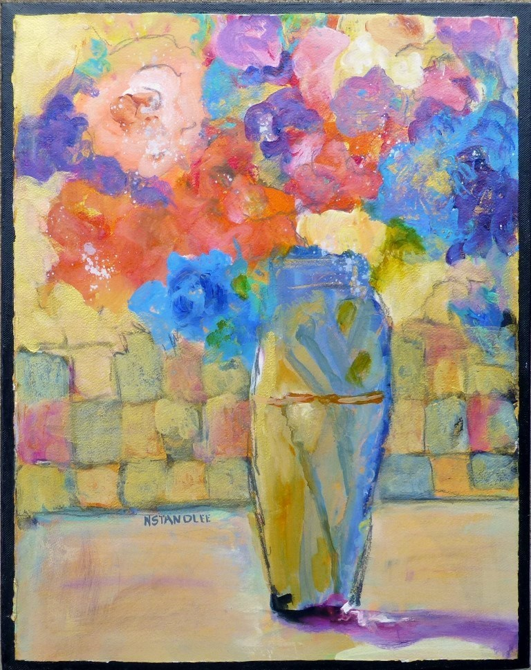 """Corpus Christi Floral #2 15002"" original fine art by Nancy Standlee"