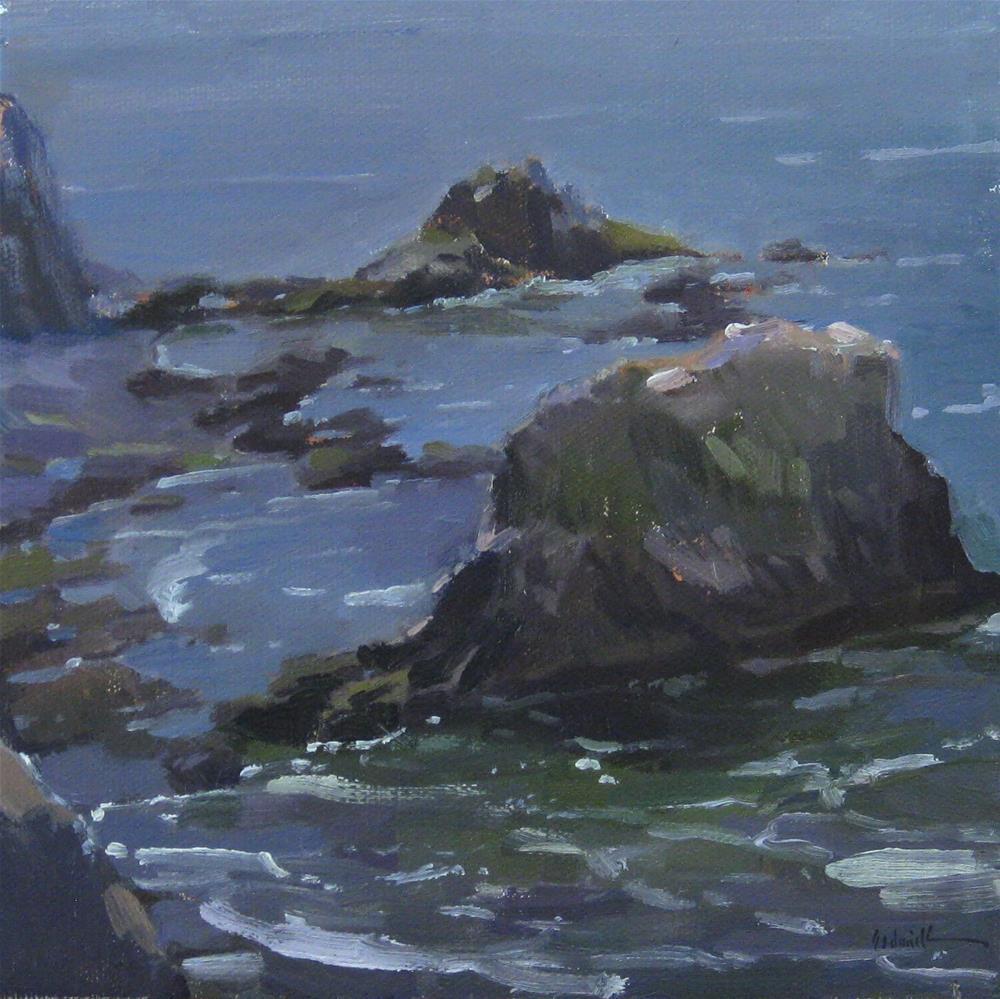 """Ocean Rocks"" original fine art by Sarah Sedwick"