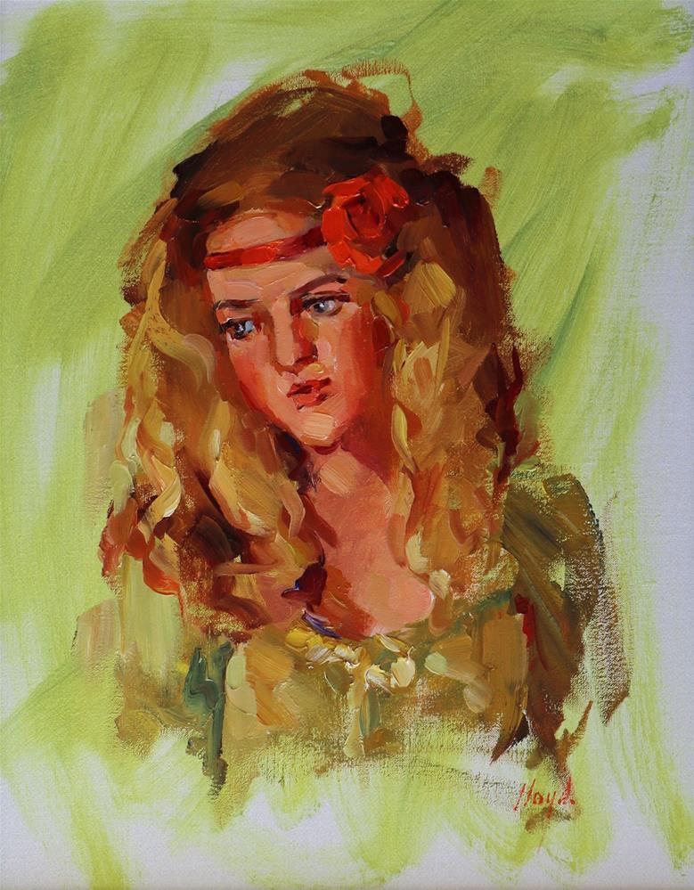 """Jenny"" original fine art by Diane Lloyd"