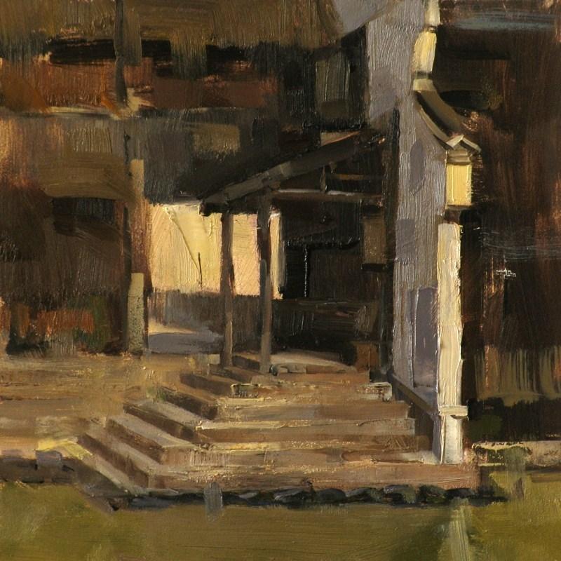 """Quiet Dock"" original fine art by Qiang Huang"