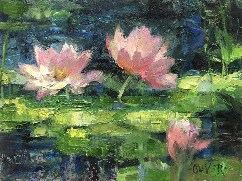 """""""Waterlily Light #2"""" original fine art by Julie Ford Oliver"""