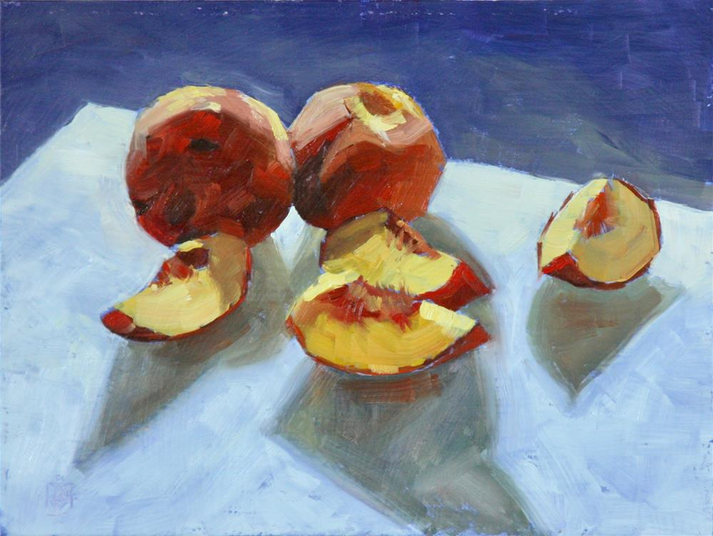 """Keeping It Peachy"" original fine art by Carol Granger"