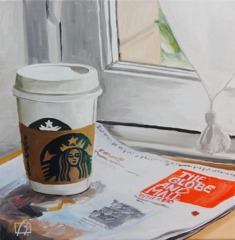 """""""Saturday Paper"""" original fine art by Andre Beaulieu"""