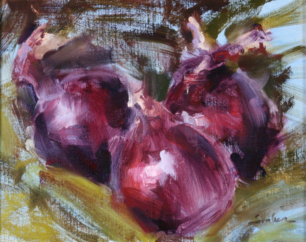 """Red Onion Trio"" original fine art by Scott Serafica"