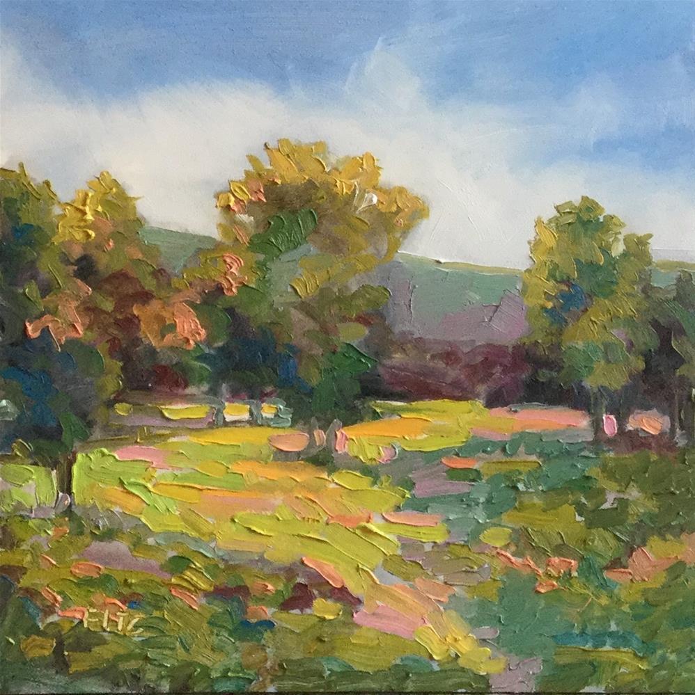 """Impasto Landscape Study"" original fine art by Charlotte Fitzgerald"