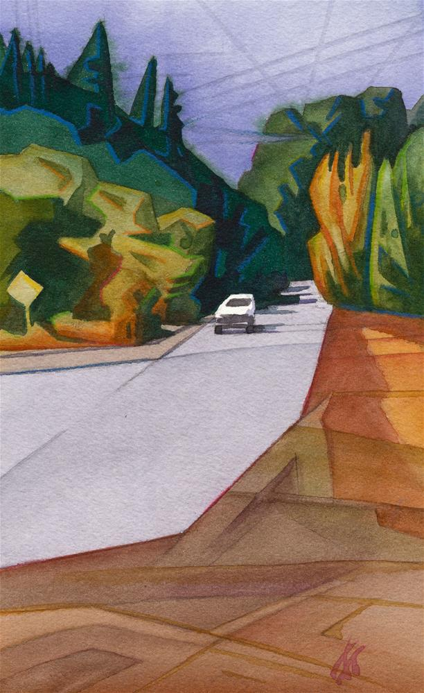 """""""Country Road (53rd St.)"""" original fine art by Mark Allison"""