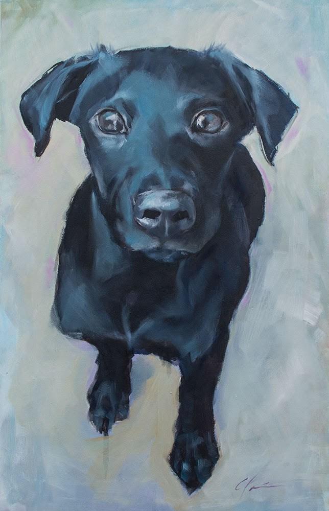 """Big Blue"" original fine art by Clair Hartmann"