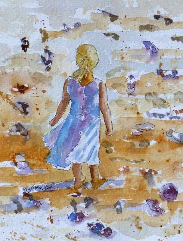 """Crowd of Footprints 13107"" original fine art by Nancy Standlee"