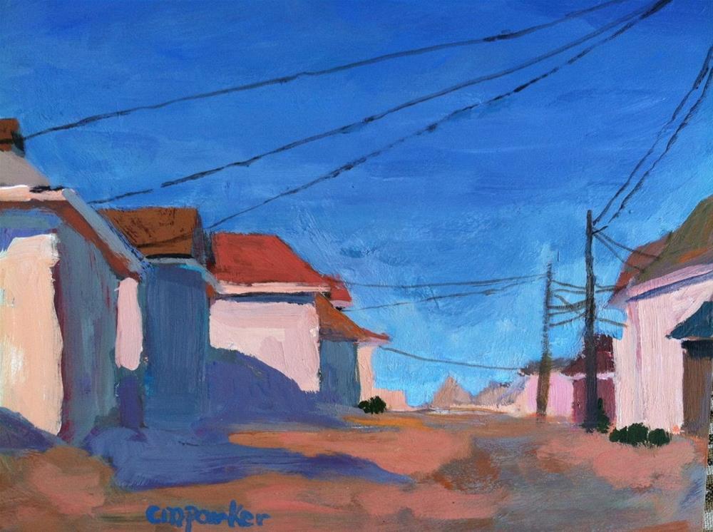 """Beach Cottages, 9/24/13"" original fine art by Christine Parker"