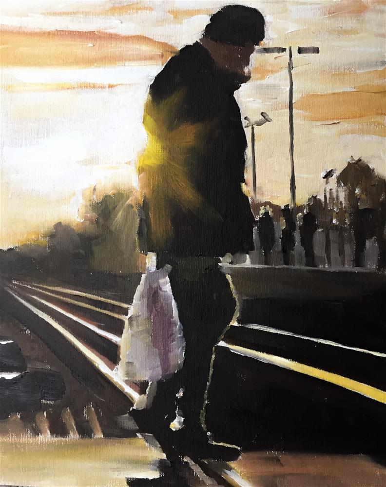 """On the Tracks"" original fine art by James Coates"