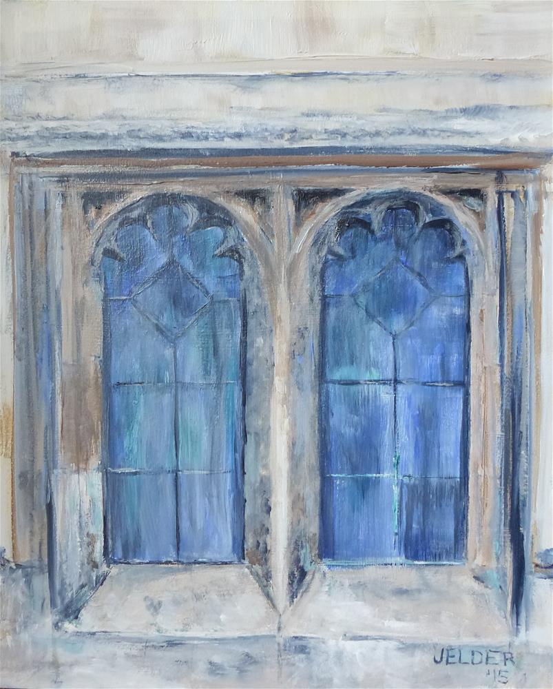 """Windows, Paris No. 75"" original fine art by Judith Elder"