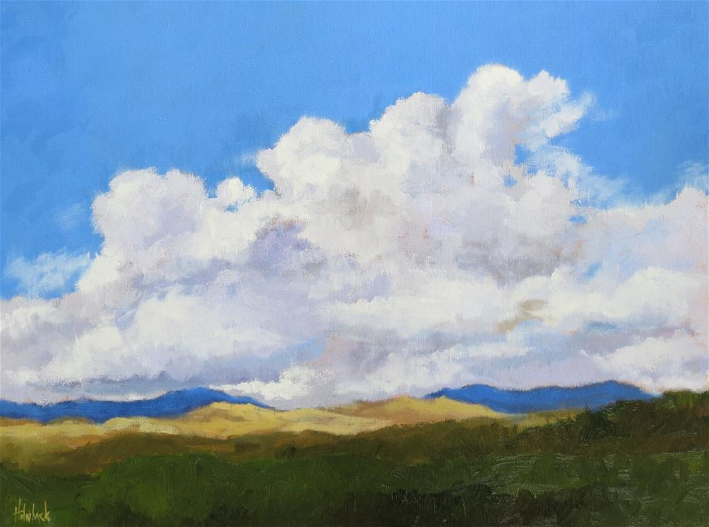 """""""Hovering Clouds"""" original fine art by Pam Holnback"""