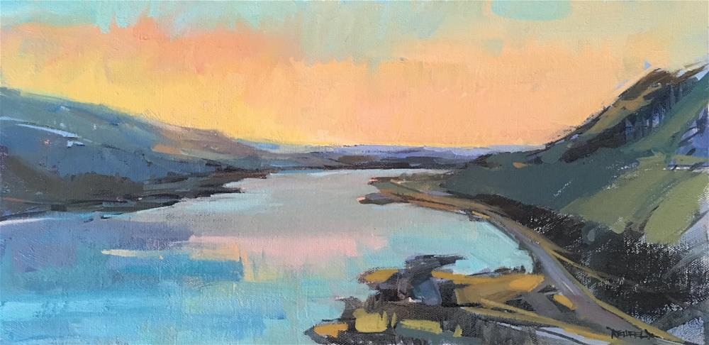 """Rowena Sunrise"" original fine art by Cathleen Rehfeld"