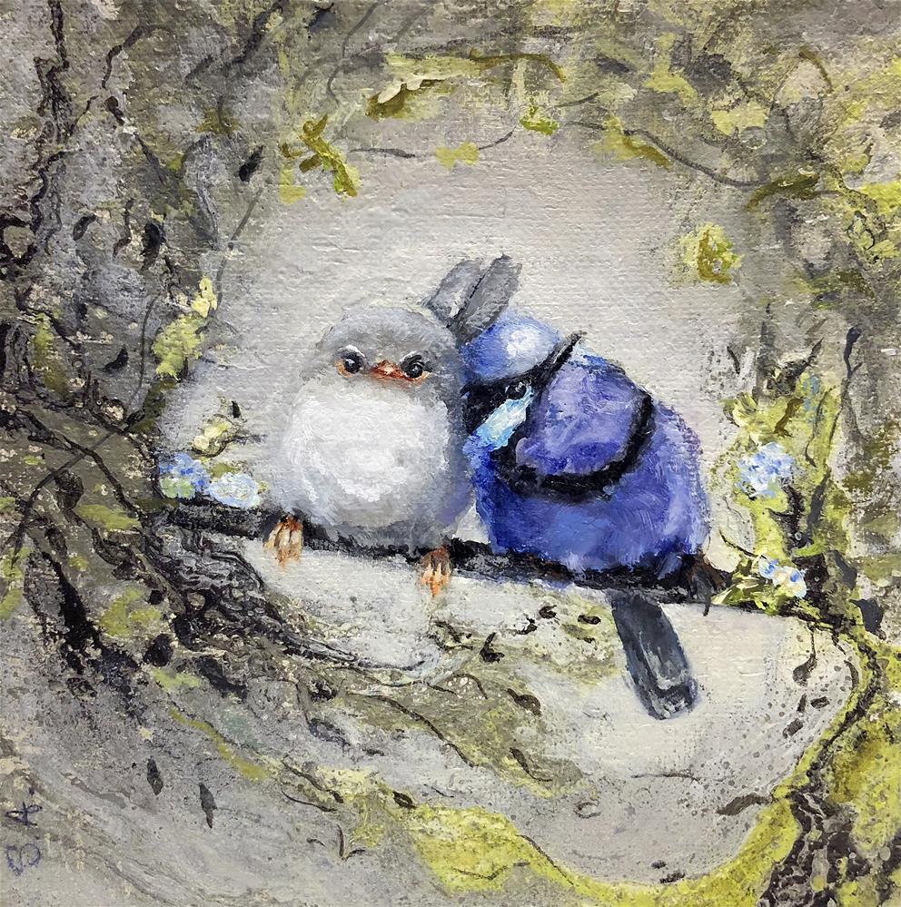 """Splendid Fairywrens"" original fine art by Sunny Avocado"