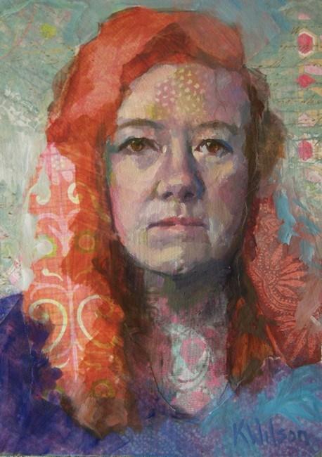 """""""Red Head"""" original fine art by Katie Wilson"""