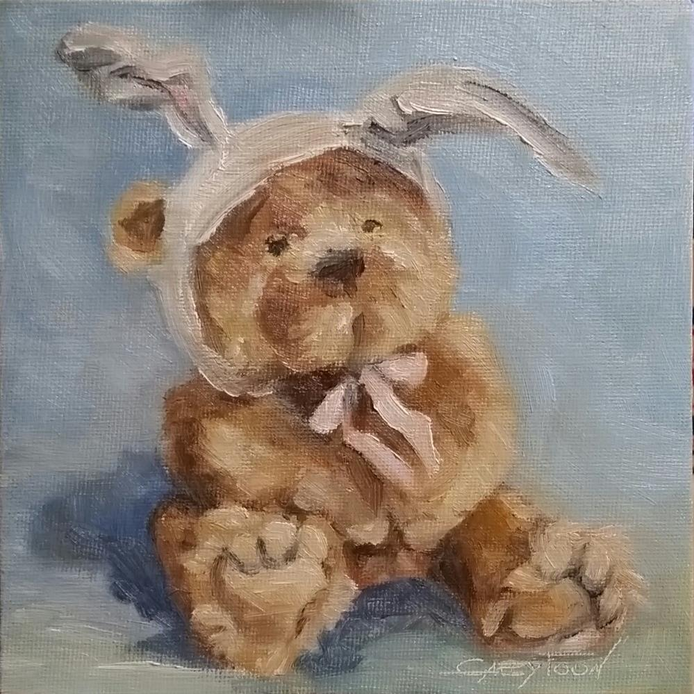 """To Pretend To Be An Easter Bunny"" original fine art by Gabriella DeLamater"