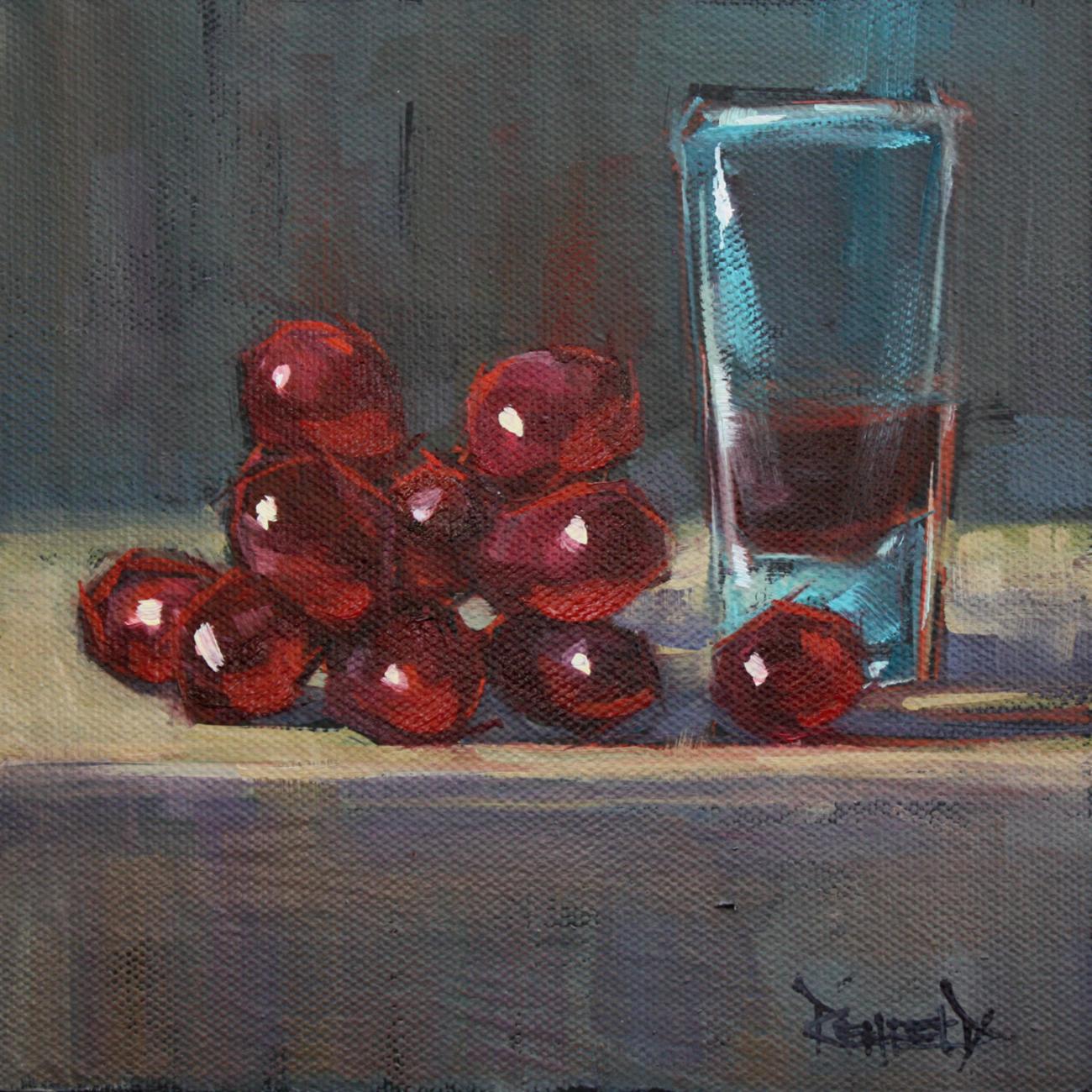 """Shot of Grapes"" original fine art by Cathleen Rehfeld"