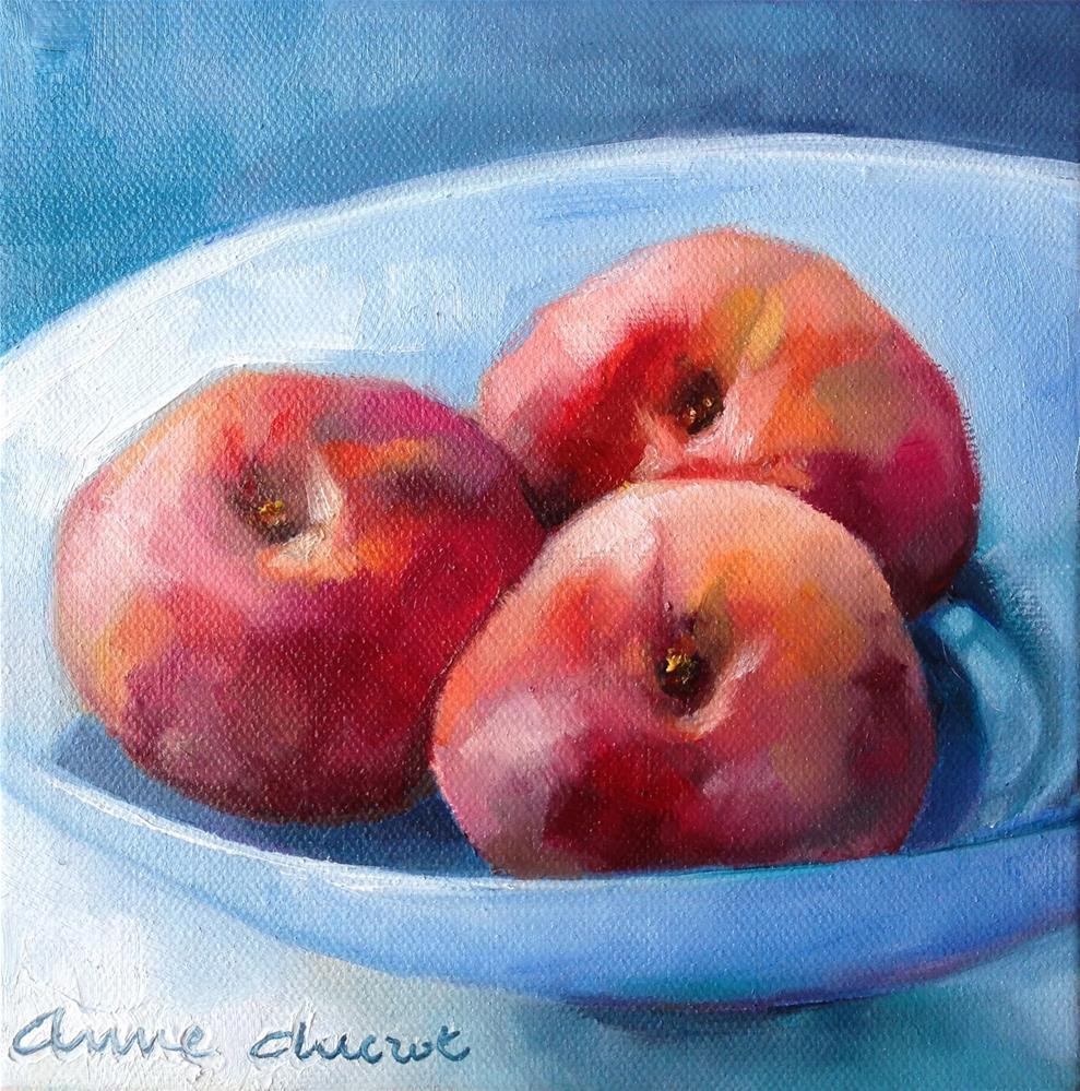 """Peach Exposure"" original fine art by Anne Ducrot"