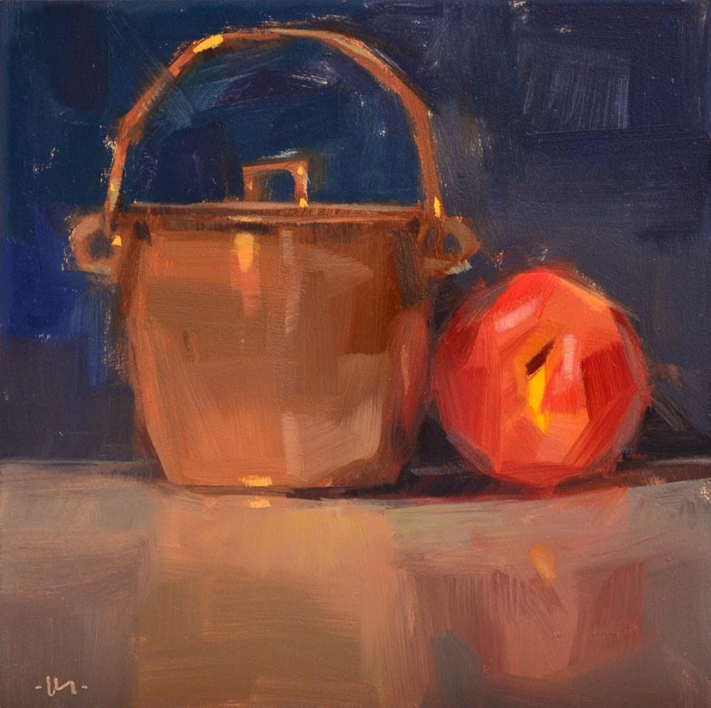 """My Shiny Friend"" original fine art by Carol Marine"