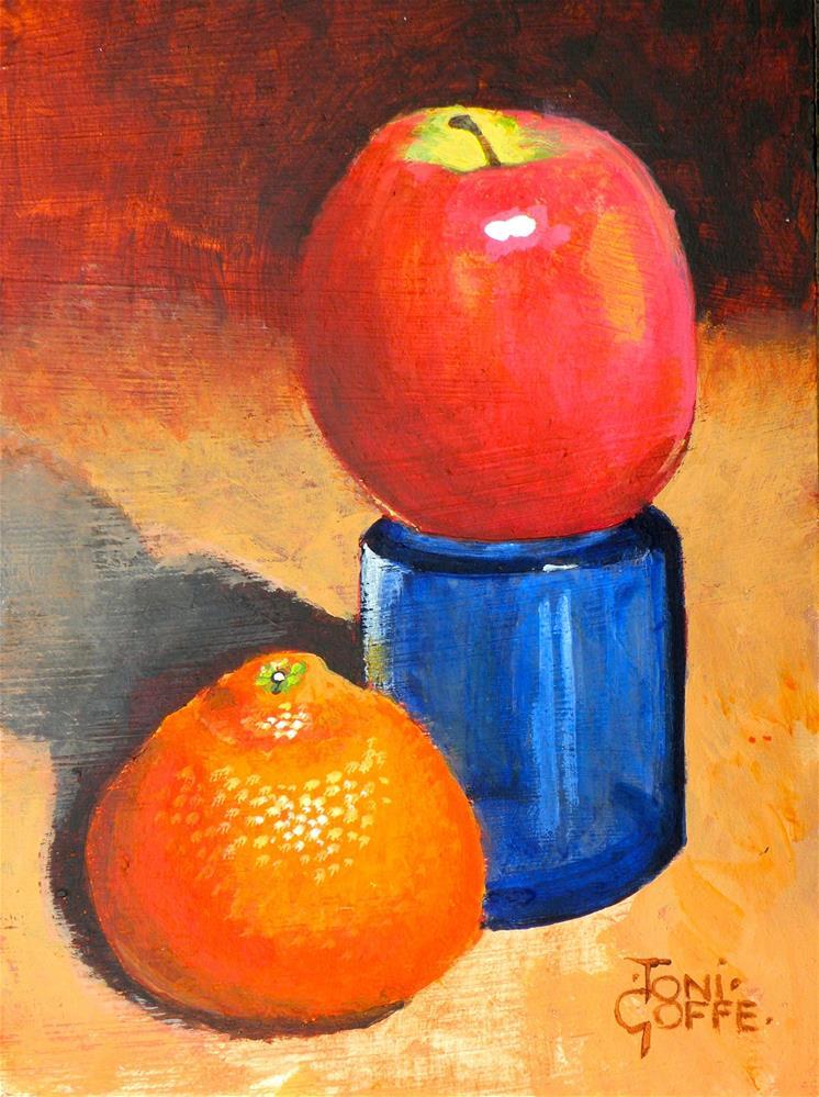 """I Look Down on Him"" original fine art by Toni Goffe"