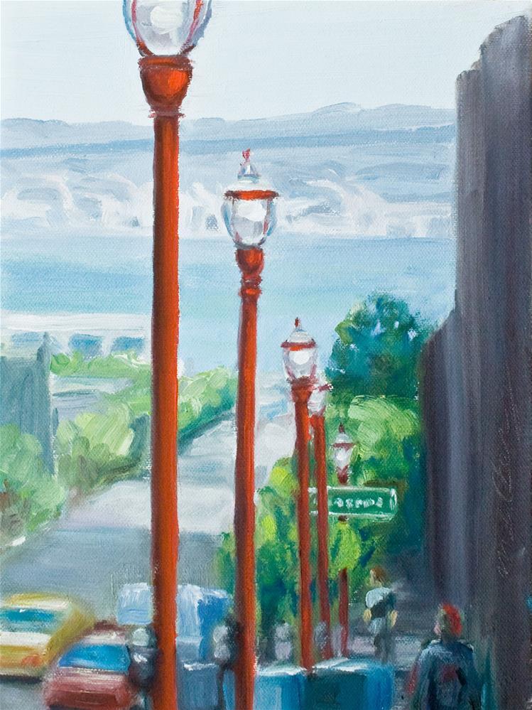 """Down to the Bay"" original fine art by Cynthia Mahlberg"
