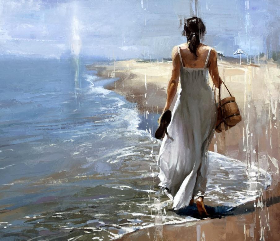 """Ocean breeze - #30."" original fine art by Victor Bauer"