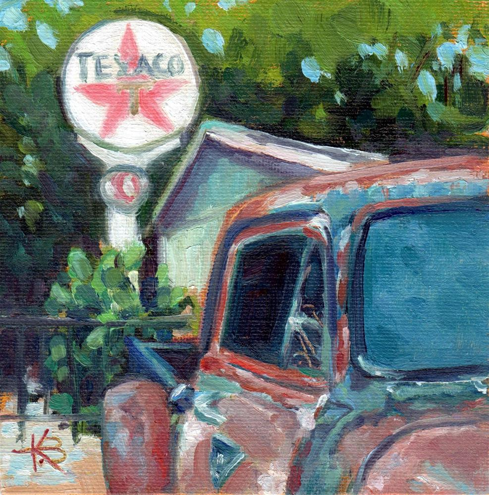 """Texaco"" original fine art by Kathy Bodamer"