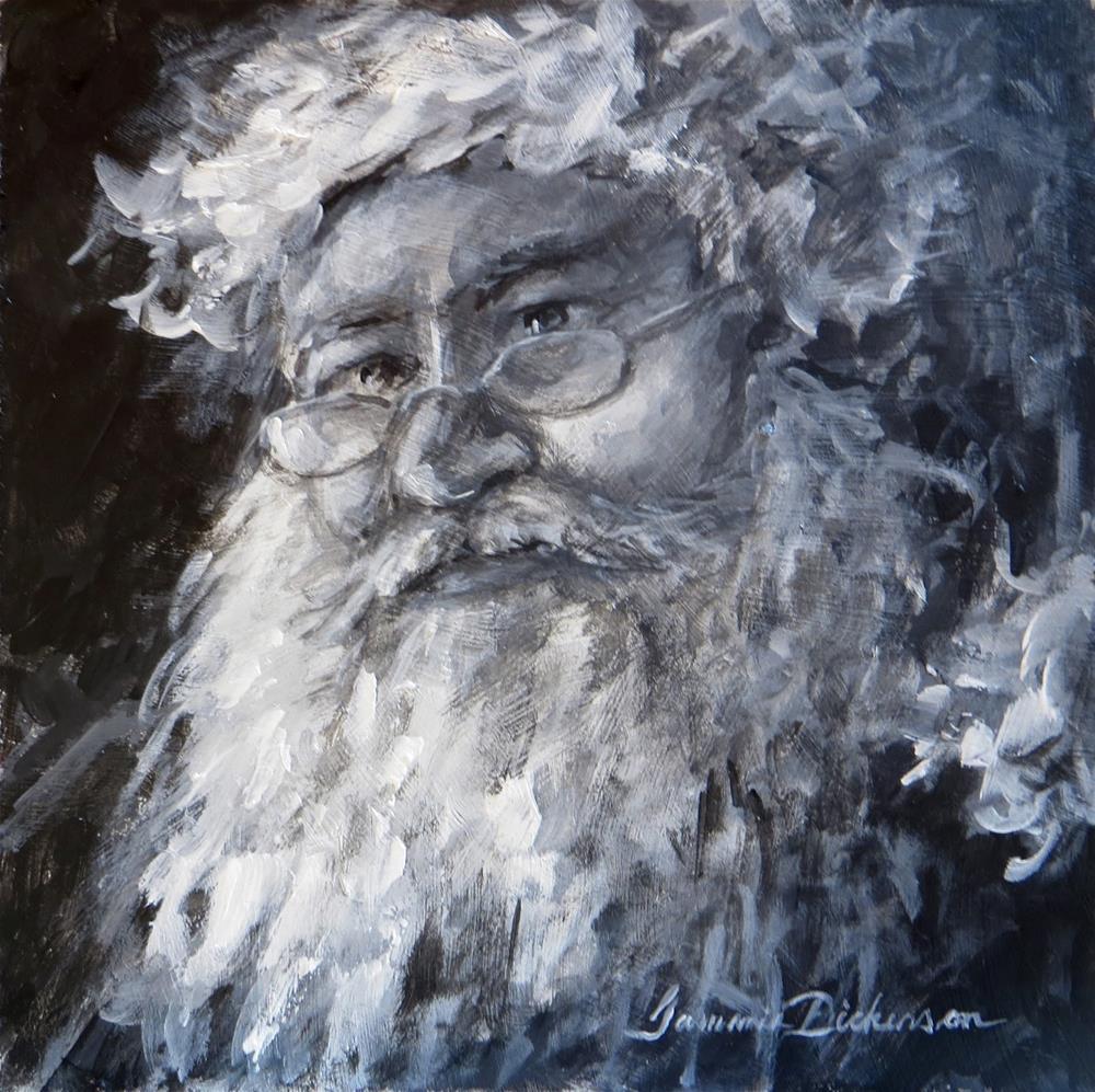 """Thoughtful Santa"" original fine art by Tammie Dickerson"