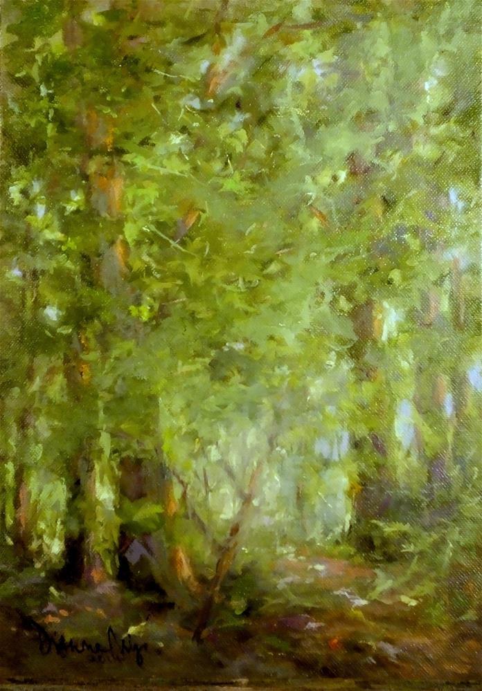 """Last of September Greens"" original fine art by Dianne Mize"