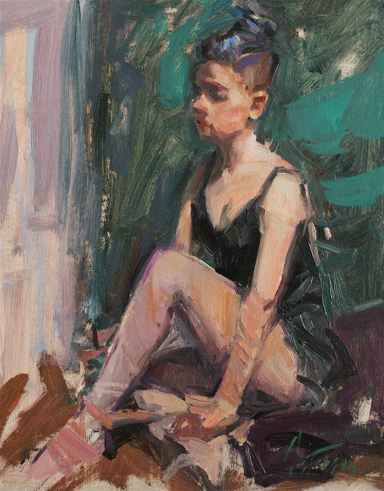 """""""Ballet Shoes"""" original fine art by Mike Peterson"""