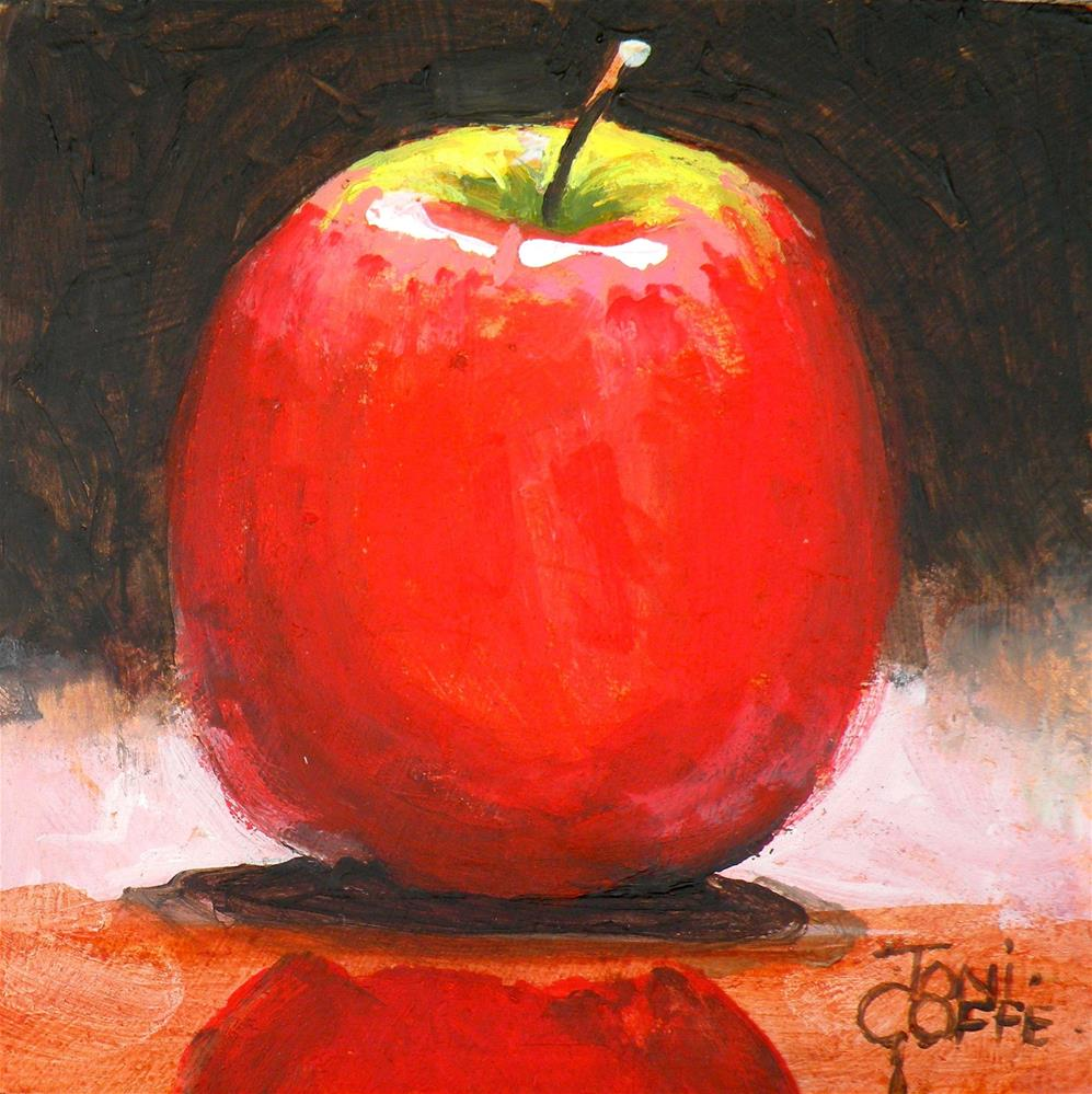 """Apple Reflection"" original fine art by Toni Goffe"