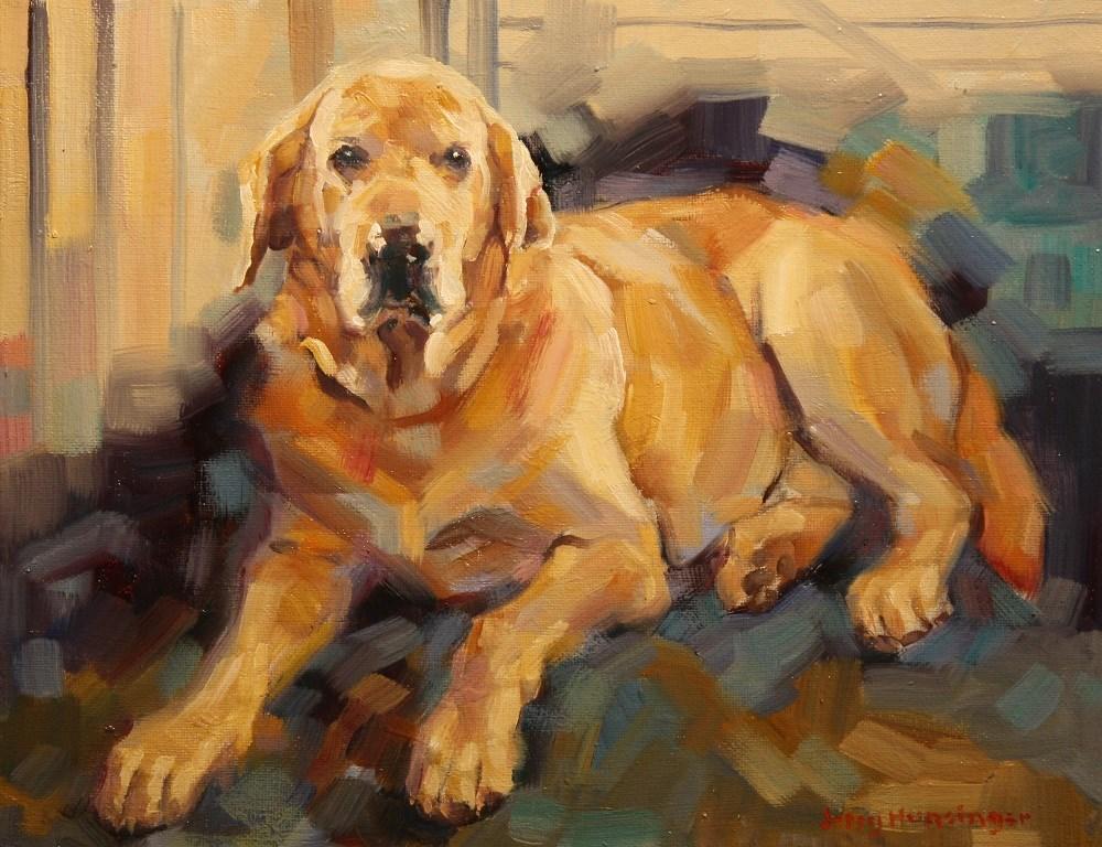 """""""Yellow Labrador Retriever"""" original fine art by jerry hunsinger"""
