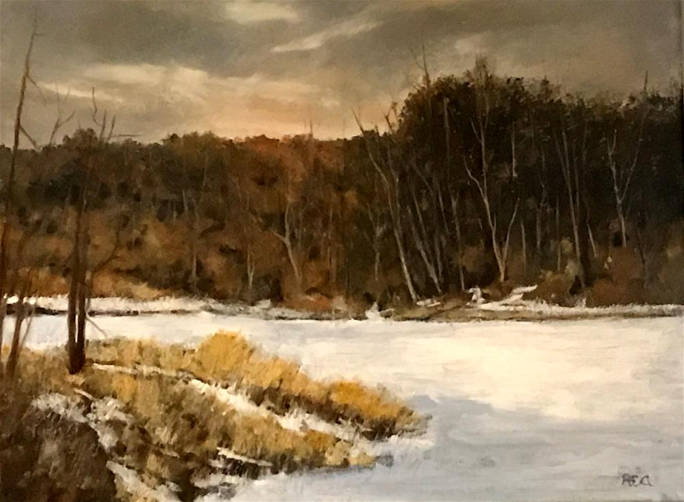 """frozen river"" original fine art by Betty Argiros"